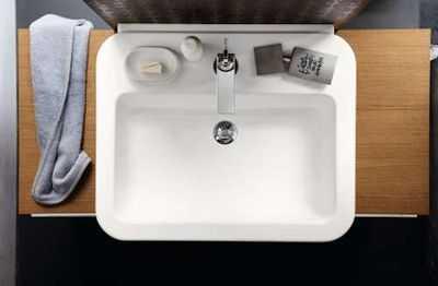 zamontowana umywalka